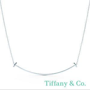 Tiffany & Co. T Smile Silver Pendant Necklace